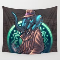 ganesh Wall Tapestries featuring Ganesh by Renato Guerra