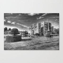 Hever Castle Black and White Canvas Print