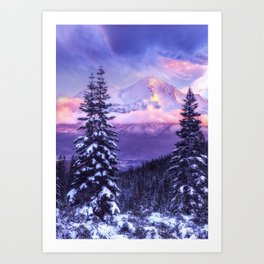 Magical Winter Morning Art Print
