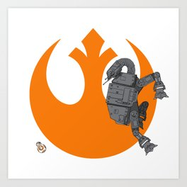 Droid Eek! (orange) Art Print