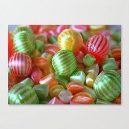 Multi-Colored Striped Candy Canvas Print