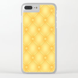 Yellow Upholstery Pattern Clear iPhone Case