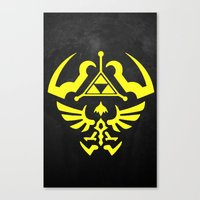 hyrule Canvas Prints featuring Hyrule Shield  by WaXaVeJu