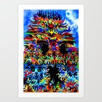 Into the temple of norklenGORP¿ Art Print