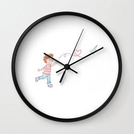 Paper Plane + Love Wall Clock