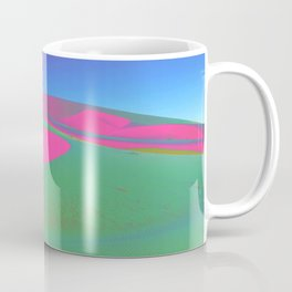 Psychedelic Sand Dunes - Pink Green Blue Coffee Mug