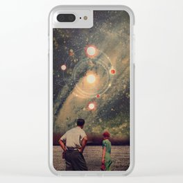 Light Explosions In Our Sky Clear iPhone Case
