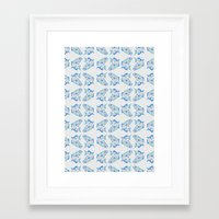 trout Framed Art Prints featuring Trout by Breanna Dolly