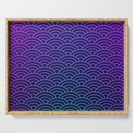 Seigaiha Synthwave Colors Serving Tray