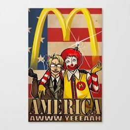 aww yeee america Canvas Print
