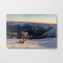 Snow on the Mountainside Metal Print
