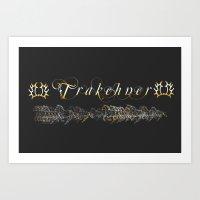 Trakehner Horses Fan-Laptopskin Art Print