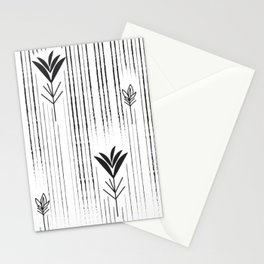 Black & White Siam Tulips Stationery Cards