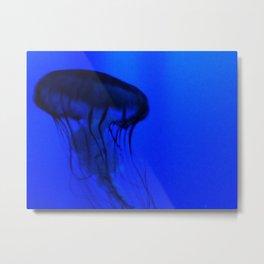 Jellyfish in the Deep Blue Metal Print