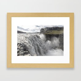 Dettifoss waterfall in Iceland - nature landscape Framed Art Print