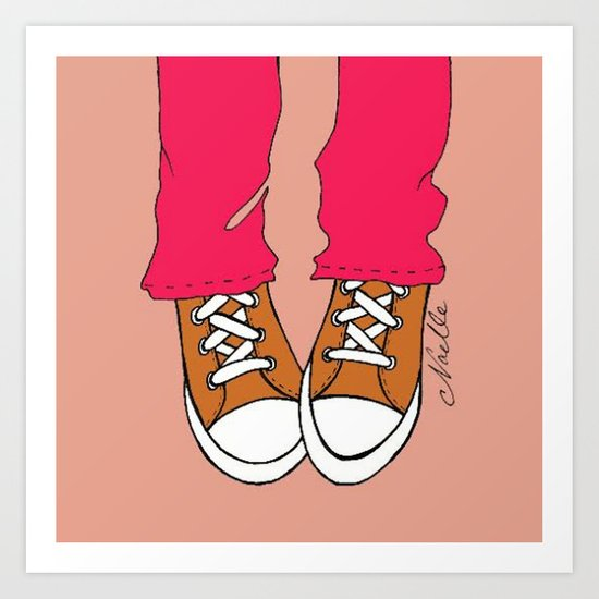 """Apricot """"Kicks"""" Art Print"""