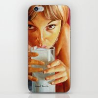 milk iPhone & iPod Skins featuring Milk by Raquel García Maciá
