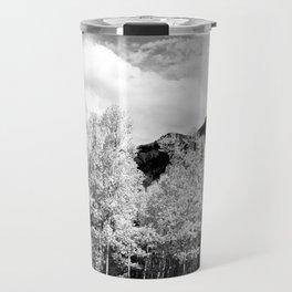 Aspens in Colorado Black & White Travel Mug