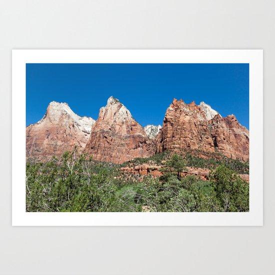 Sandstone Peaks, Court of the Patriarchs Art Print