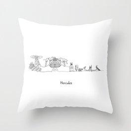 Hercules Skyline - Storyline Landscape Landmarks Throw Pillow