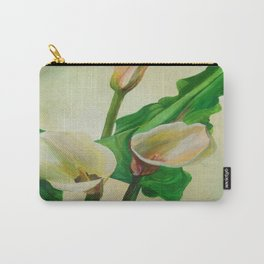 Three Calla Lilies Carry-All Pouch