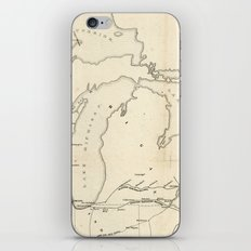 Railroad & The Northwestern States in 1850 iPhone & iPod Skin