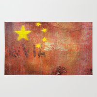 china Area & Throw Rugs featuring China by Arken25