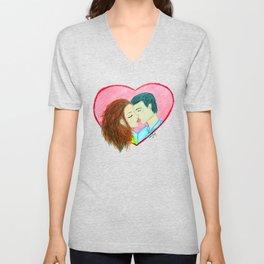 Heartfelt Kiss Unisex V-Neck
