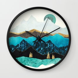 Teal Afternoon Wall Clock