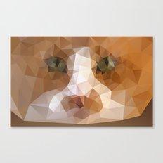 Triangle Cat Canvas Print