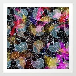 C13D Seashell Sparkle Art Print