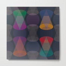 Geometric dark abstract Metal Print