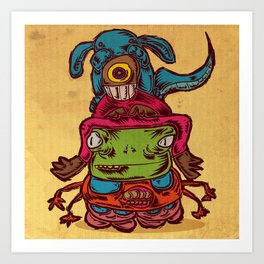 Monster Totem Art Print
