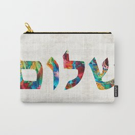 Shalom 20 - Jewish Hebrew Peace Letters Carry-All Pouch