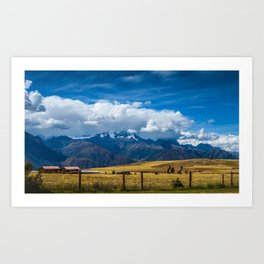 Andes Mountains Art Print