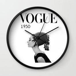 A digitally repainted  1950 Hepburn's Magazine cover Wall Clock