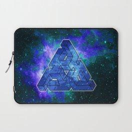 Triangle Blue Space With Nebula Laptop Sleeve