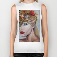 alice in wonderland Biker Tanks featuring Wonderland by HeatherIRELANDArtz