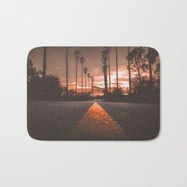 Road at Sunset Bath Mat