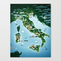italy Canvas Prints featuring Italy by Steebz