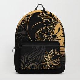 Buddha Black & Gold Backpack