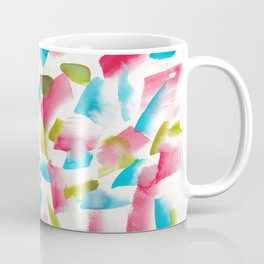180719 Koh-I-Noor Watercolour Abstract 17| Watercolor Brush Strokes Coffee Mug
