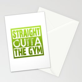 Straight Outta The Gym Stationery Cards