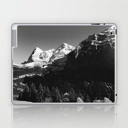 Swiss Alps Black and White Laptop & iPad Skin
