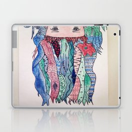 kawaii zentangle hair anime Laptop & iPad Skin