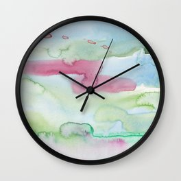 13   | Abstract Minimal Watercolor Painting | 191222 Wall Clock