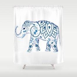 Indian,ornamental elephant Shower Curtain