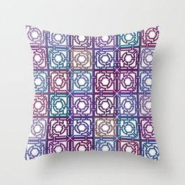 Colorful Maze V Throw Pillow
