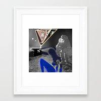 walk the moon Framed Art Prints featuring Moon Walk by AF Knott
