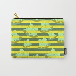 Christmas bells and stripes Carry-All Pouch
